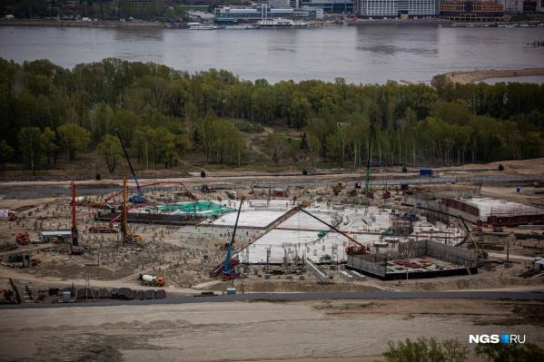 Строительство ледовой арены на левом берегу контролирует правительство Новосибирской области