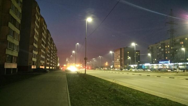 В Кургане строят новые линии уличного освещения