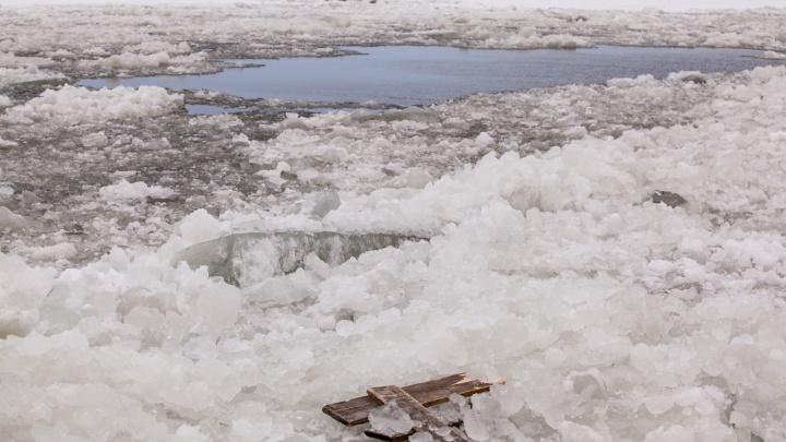 Ледовый затор в Холмогорском районе привел к подтоплению деревень