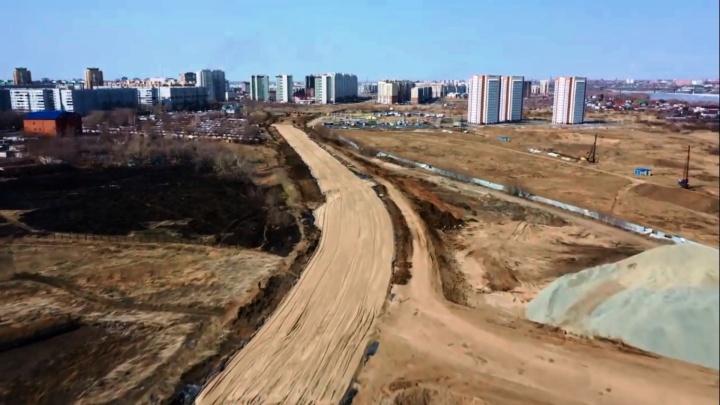 Строительство дублёра улицы 70 лет Октября за 1,2 миллиарда сняли с квадрокоптера