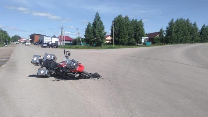 В Башкирии за день произошло три серьезных ДТП с мотоциклистами