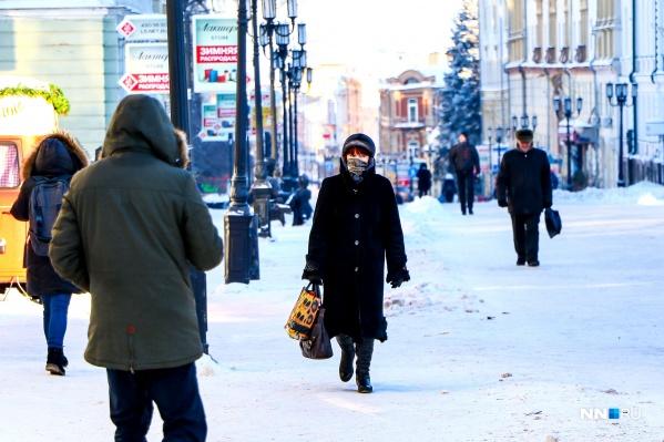 В ближайшие дни нижегородцам стоит одеваться теплее —при таких температурах очень просто получить переохлаждение