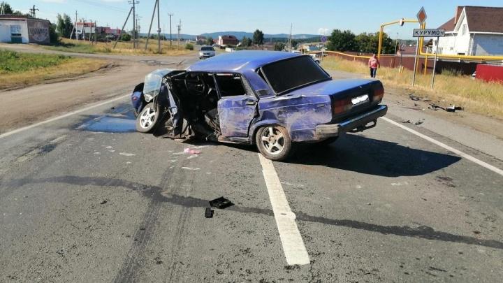 Полиция нашла водителя «крузака», который разбил «семерку» под Самарой и сбежал