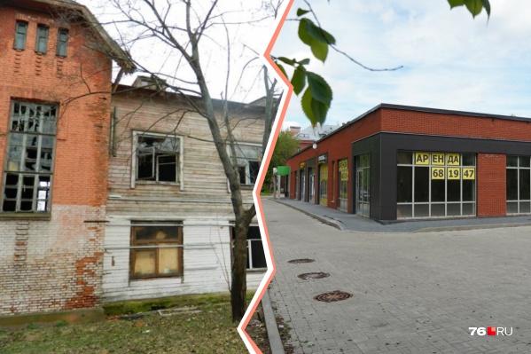 На месте исторической школы построили магазин