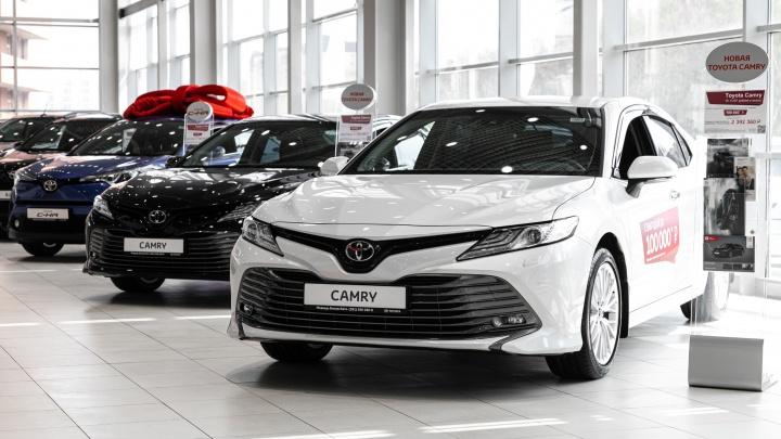 Красноярцы смогут приобрести автомобили Toyota с выгодой до 300 000 рублей