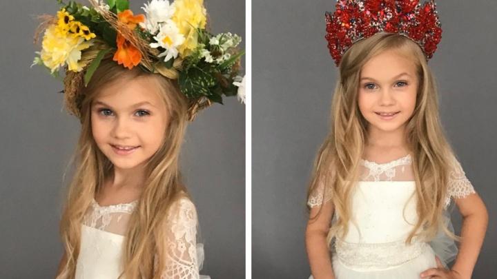 Пятилетняя малышка из Красноярска признана самой красивой сразу в двух конкурсах красоты