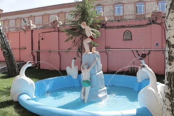 На Самарской ГРЭС отреставрировали фонтан «Купающиеся мальчики»