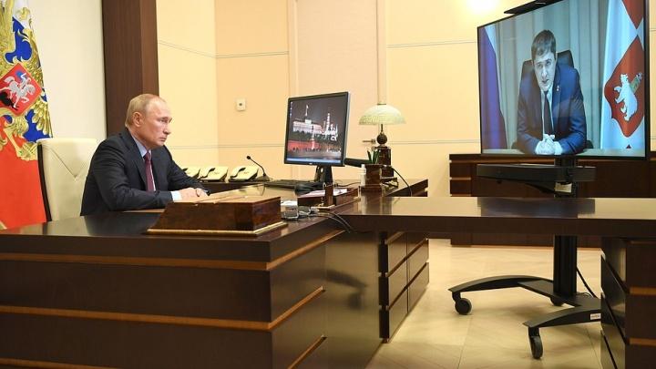 «Приглашаем вас на 300-летие»: глава Прикамья Дмитрий Махонин поговорил с президентом Владимиром Путиным
