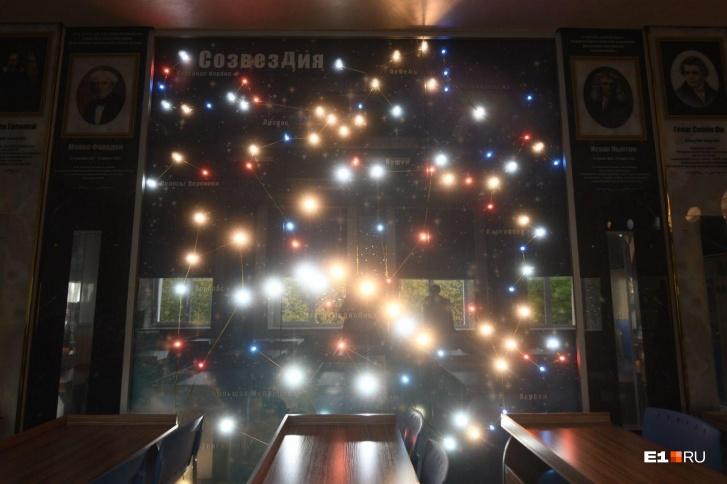 Звездное небо в кабинете физики и астрономии