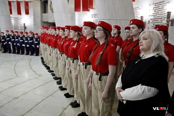 Клятву юнармейца читали в Триумфальном зале «Сталинградской битвы»