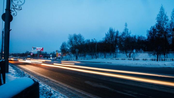 На трассе Тюмень — ХМАО ограничили движение из-за снегопада
