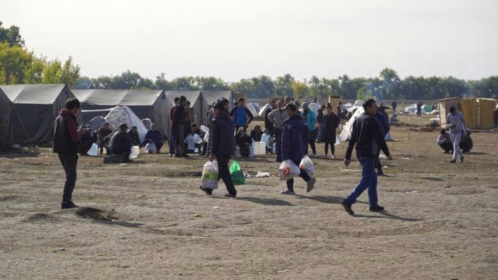 В Самарской области ликвидировали лагерь для мигрантов из Узбекистана