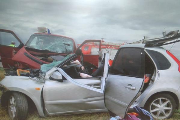 Водитель «Лады» выжила в аварии