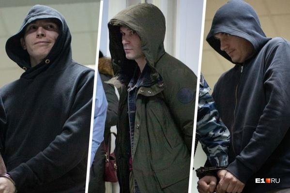 Обвиняемые Вячеслав Тропин, Вадим Мустафин, Андрей Бессарабов (слева направо)