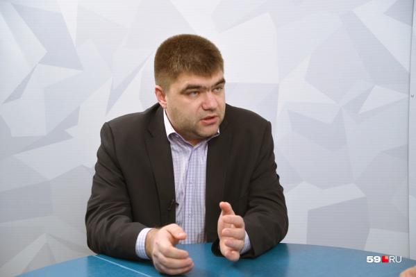 Александр Филиппов — действующий депутат гордумы. Ранее он возглавлял «Пермгорэлектротранс»