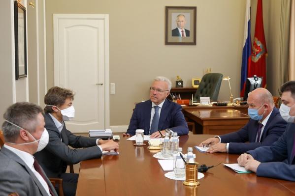 Встреча губернатора и руководства «Полюса»