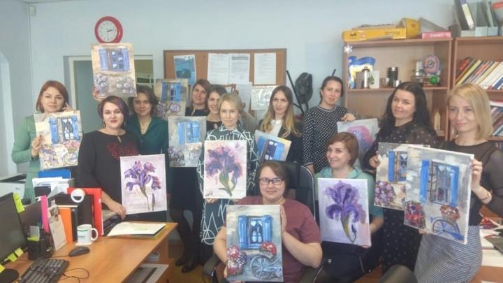 Вместо работы — мастер-класс по рисованию: 8 Марта в режиме онлайн