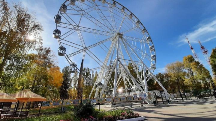 Колесо обозрения в парке Гагарина перевели на зимний режим работы