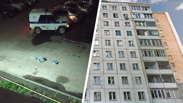 Сибирячка выкинула стулья с 12 этажа во двор с машинами