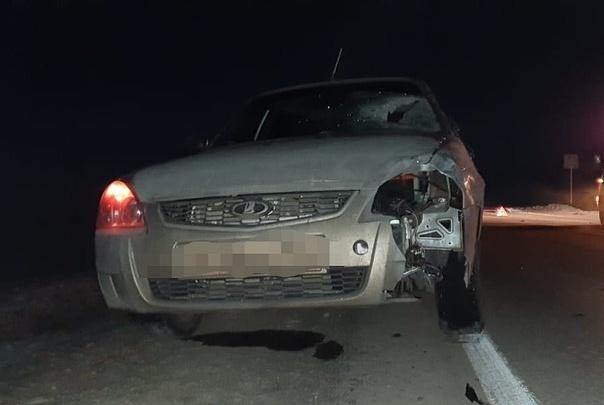 В Башкирии водитель «Лады-Приоры» насмерть сбил пешехода, от удара треснуло лобовое стекло
