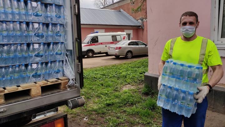 """«Пивзавод """"Ярпиво""""» передал 27 тысяч бутылок питьевой воды в больницы Ярославля и Ярославской области"""