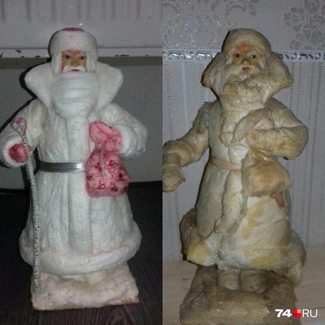 Это самый первый восстановленный Ольгой дед-мороз