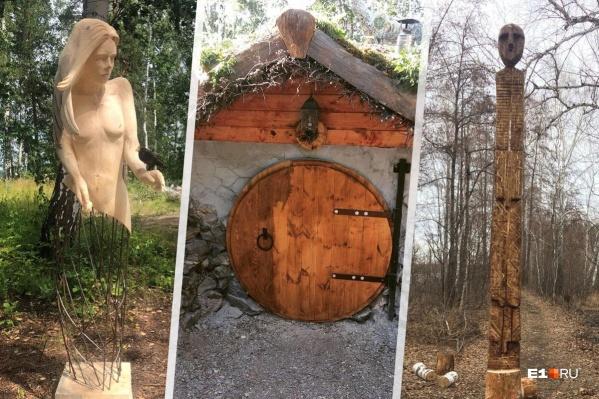 Некоторые работы, которые можно будет увидеть во время фестиваля ленд-арта, уже появились на острове