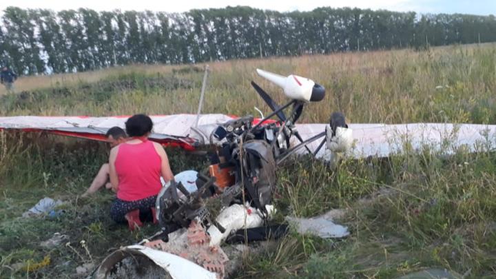 Следователи выяснят причину крушения мотодельтаплана в Башкирии. Судно рухнуло через 10 минут после взлета