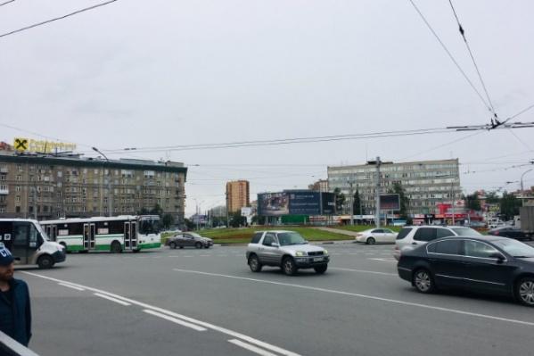 Погоня закончилась на площади Калинина