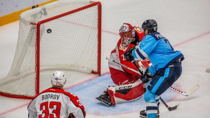 Хоккей: «Сибирь» проиграла «Автомобилисту» из Екатеринбурга