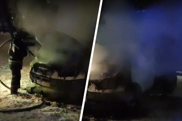 Пожарные за несколько минут потушили возгорание
