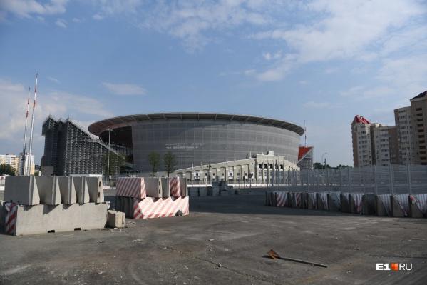 Во время чемпионата мира по футболу на этом земельном участке располагалась временная инфраструктура