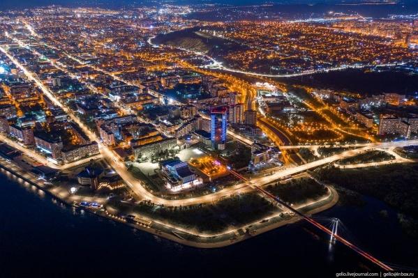 Новосибирский фотограф снял Красноярск с высоты