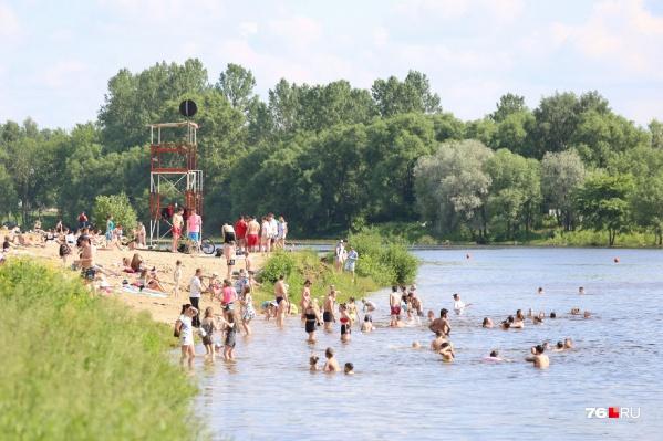 Несмотря на сложную эпидемиологическую обстановку, на ярославских пляжах полно людей и в выходные, и в будни