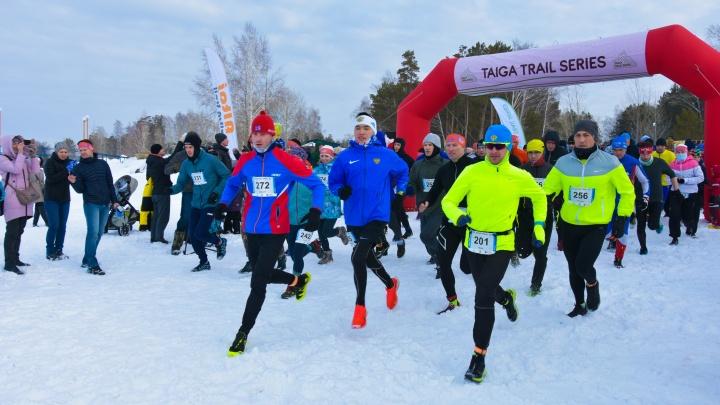 Более 400 новосибирцев приняли участие в крупном забеге «Белый трейл»