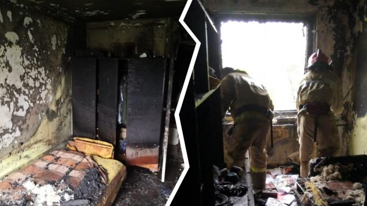 Женщина была без сознания: пожарные спасли двух человек из горящей пятиэтажки