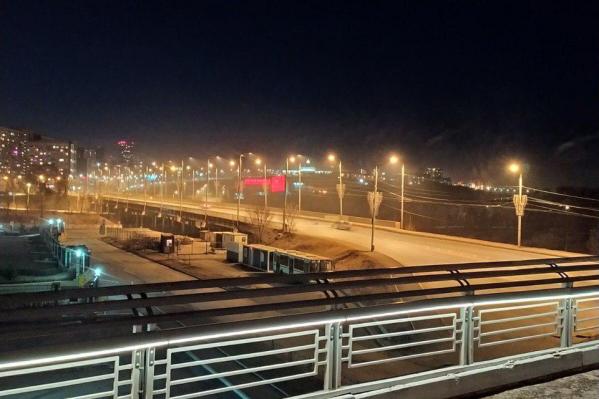 Так Красноярск выглядел вечером 2 апреля