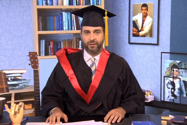 Иван Ургант тоже оделся, как выпускник