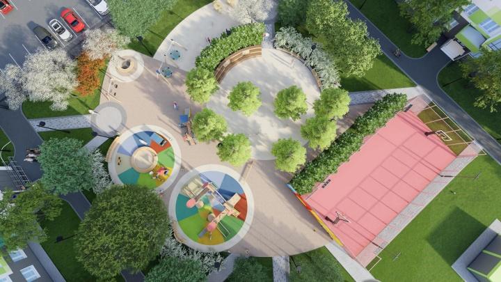 В Кировском районе строят новые высотки с продуманным двором и парковками