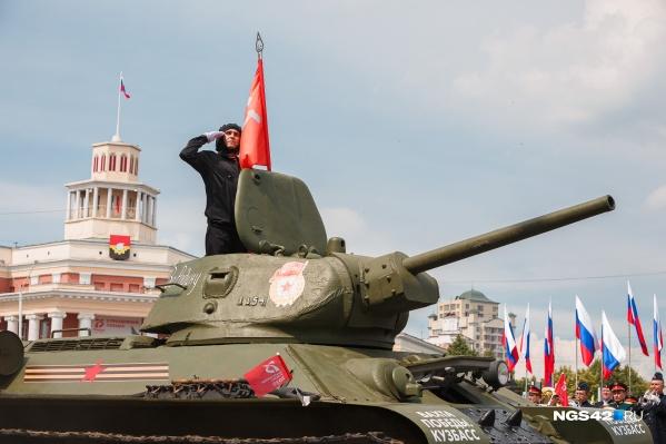 В торжественном шествии вновь будет участвовать танк Т-34