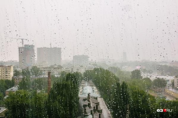 В некоторых частях региона пройдёт ливень