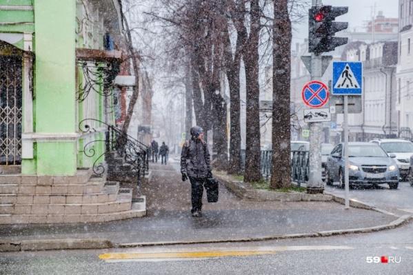 На неделе будут снег и ночные заморозки