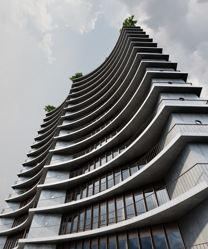 Одно из высотных зданий, которое планируют построить на улице Папанина