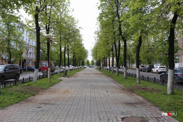Проспект Ленина опустел