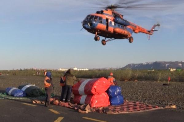 Доставить оборудование до места возможно лишь вертолетом