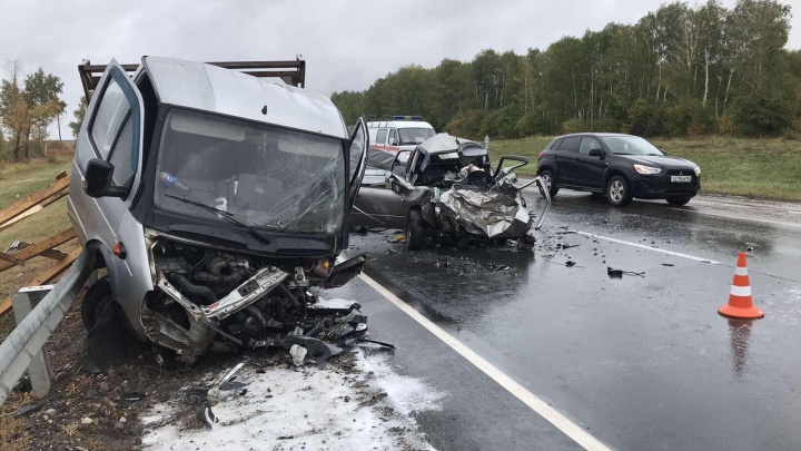 Смертельная встречка: на М-5 водитель Lada погиб после ДТП с «Газелью»