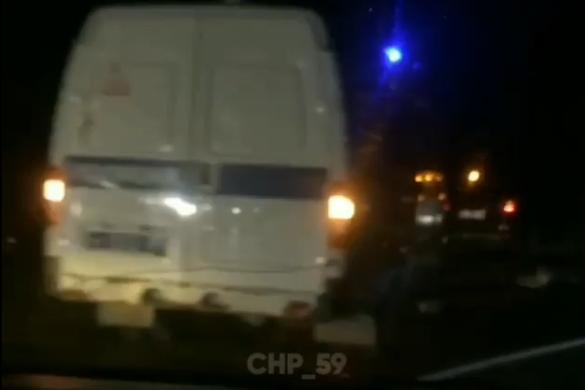 Авария произошла в 9 вечера