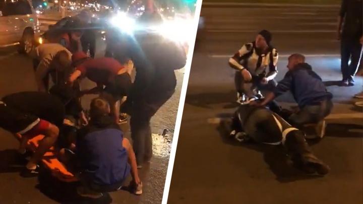 «Голова в крови»: появилось видео смертельного ДТП на Московском шоссе