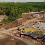 Видео: рабочие начали возводить первый этаж комплекса ГИБДД у «Самара Арены»