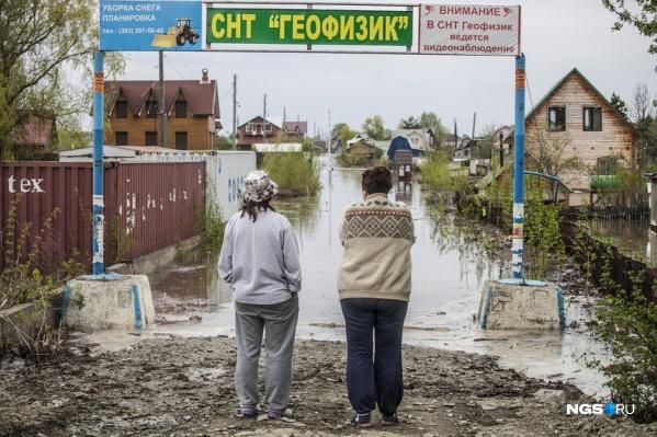 Так выглядел паводок в новосибирских дачных сообществах в 2015 году